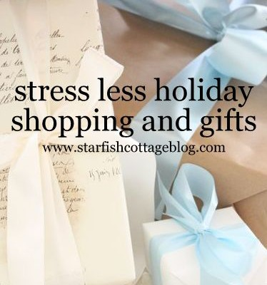 Stress Less Holiday Gifts and Shopping