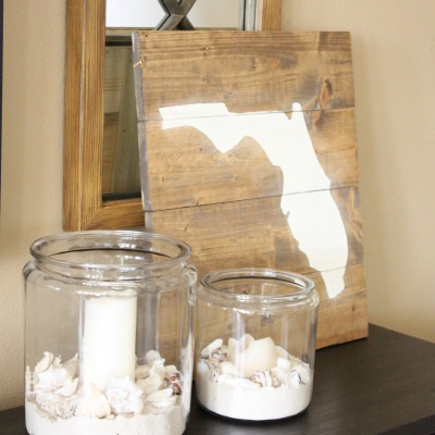 DIY: Wooden State of Florida Art