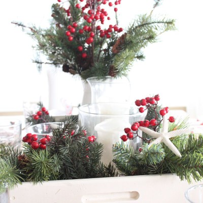 10 Minute Holiday Table Setting- Starfish Cottage