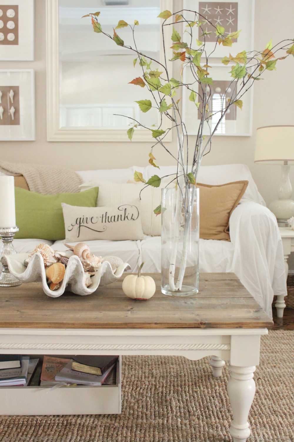 Softer Fall Colors for the Living Room - Starfish Cottage