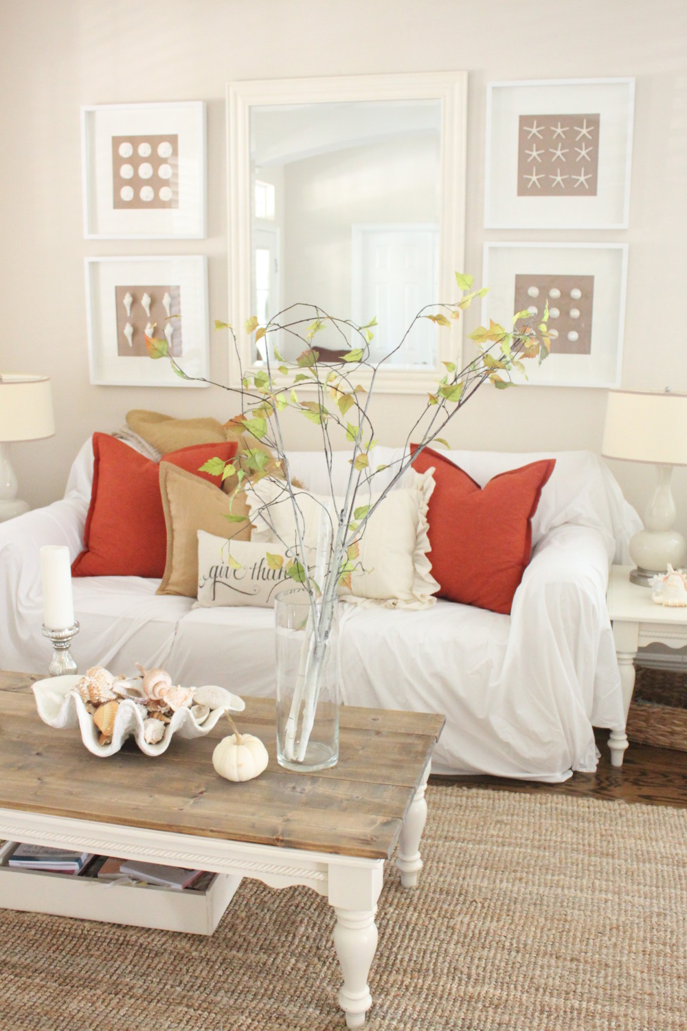 softer fall colors for the living room starfish cottage for