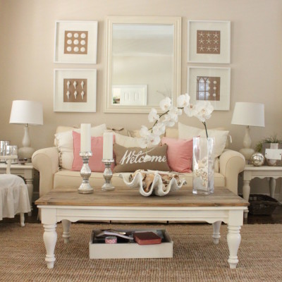 Pink Decor for Living Room and Dining Room