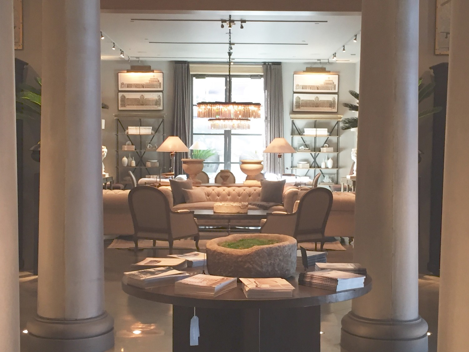 there are a few common design elements in each of these sitting areas - Restoration Hardware Bedroom Furniture