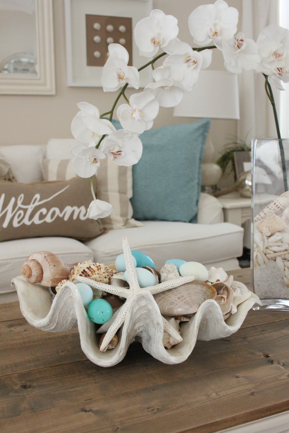 Easter 2016 at starfish cottage the living room for Where can i buy nautical decor