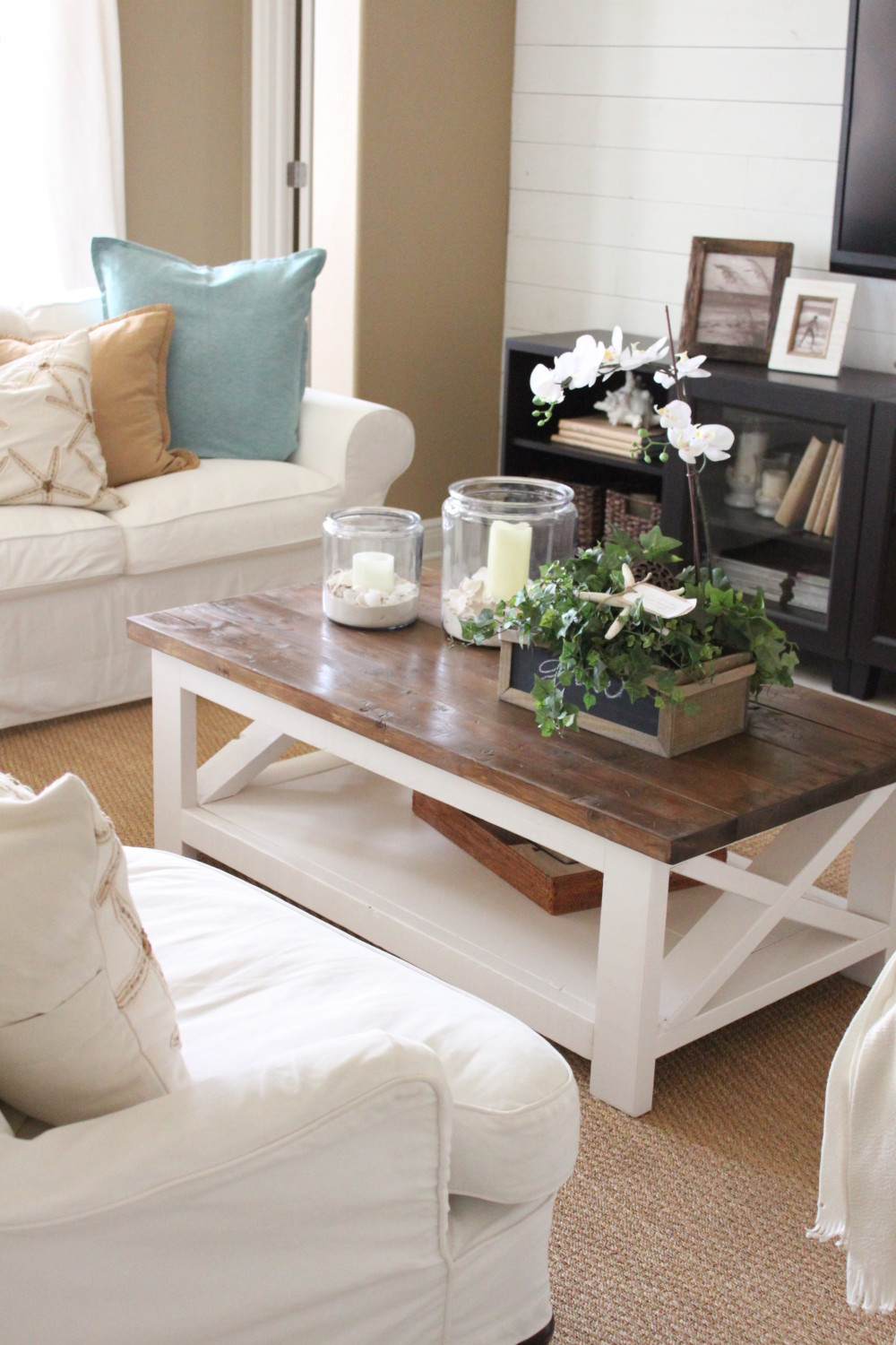 Centre Table Designs For Living Room: A New Rustic Coastal Coffee Table