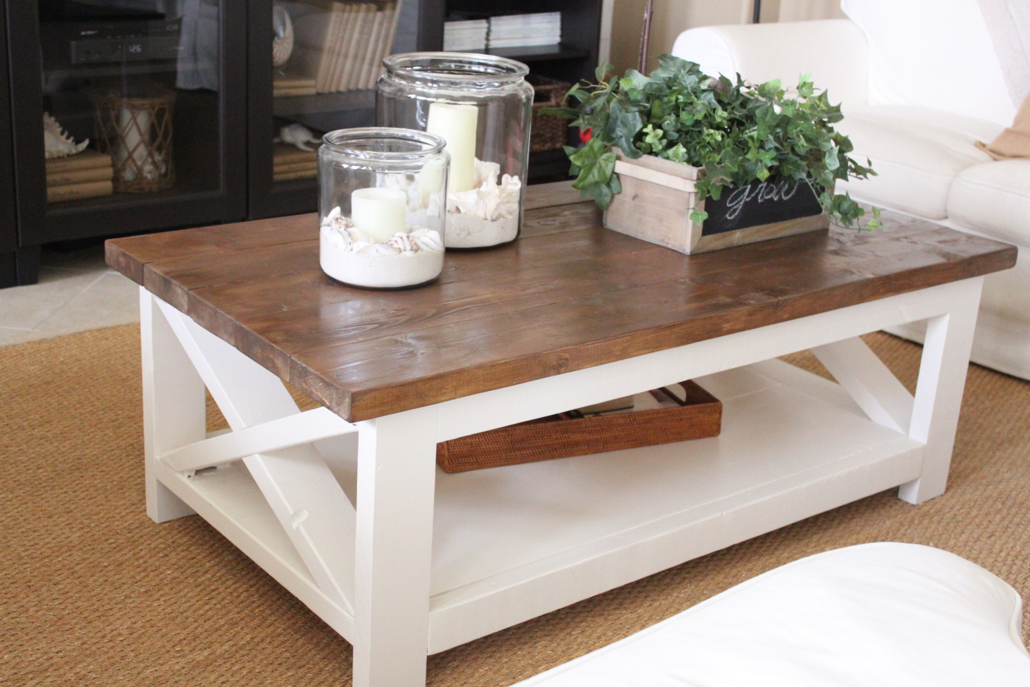 A New Rustic Coastal Coffee Table Starfish Cottage
