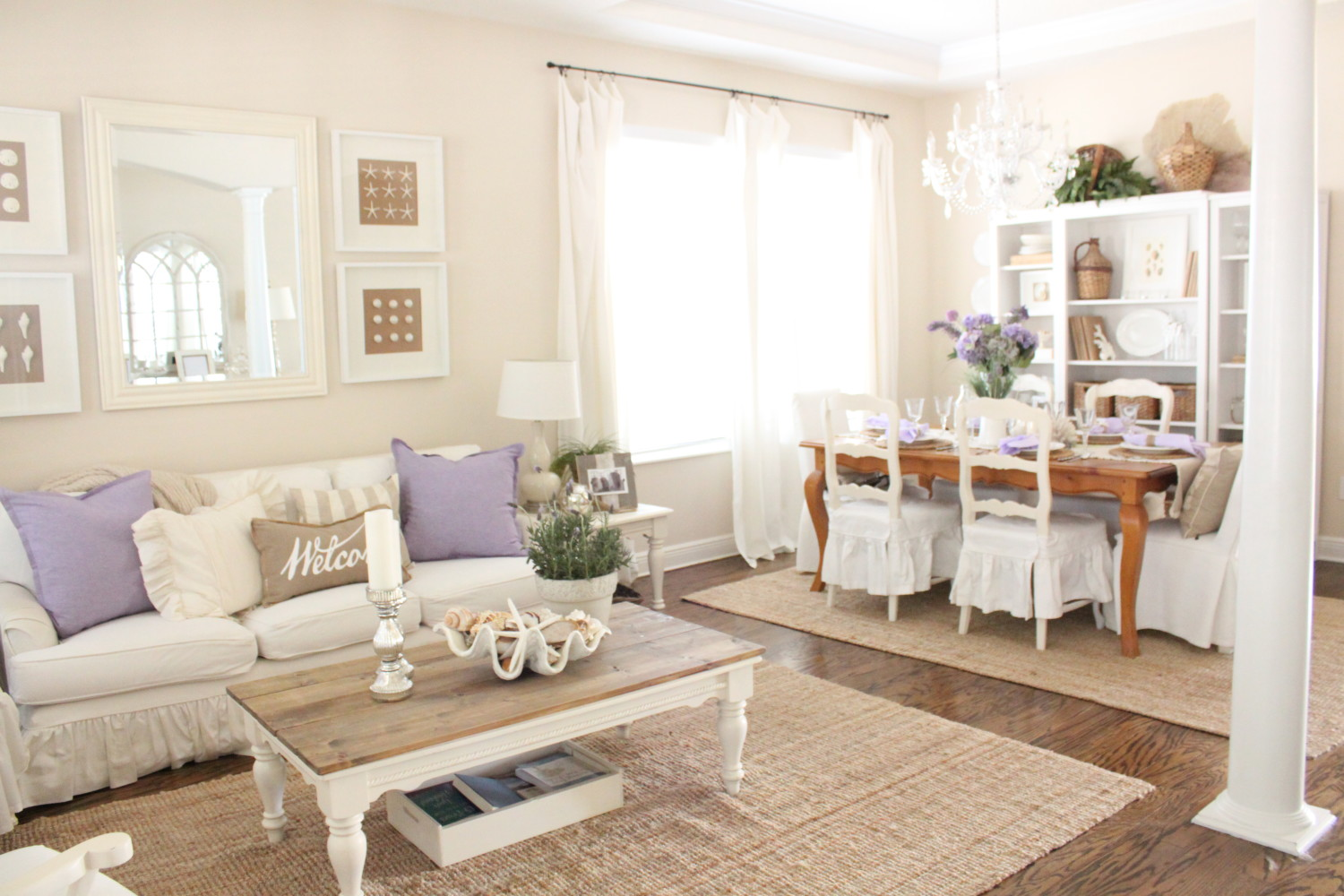 Lavender Living Room : Lavender in the Living Room - Starfish Cottage