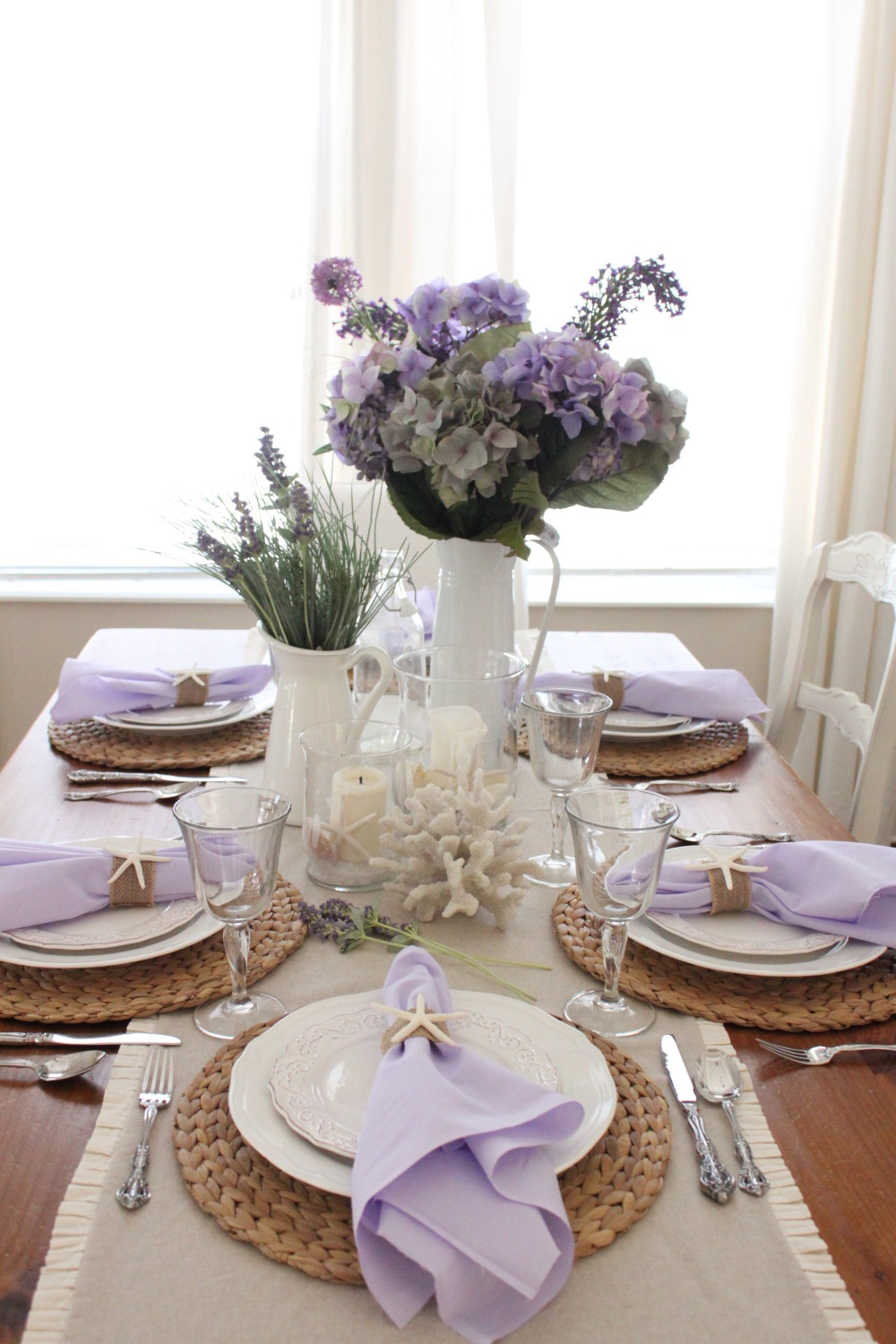 Lavender in the Dining Room - Starfish Cottage