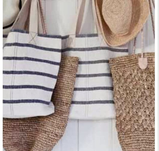 Totally Coastal Tuesday: Stripes and Straw Bags