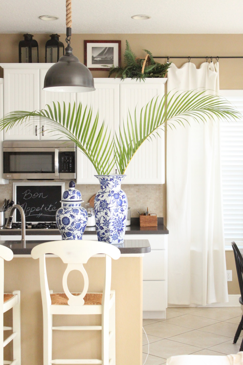 Blue and White Family Room + The Waterside Home Tour - Starfish Cottage