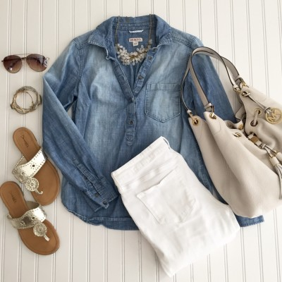 Starfish Style: 1 Denim Shirt Styled 2 Ways