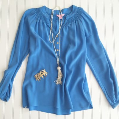 Starfish Style: Lilly Pulitzer Silky Blue Elsa Top