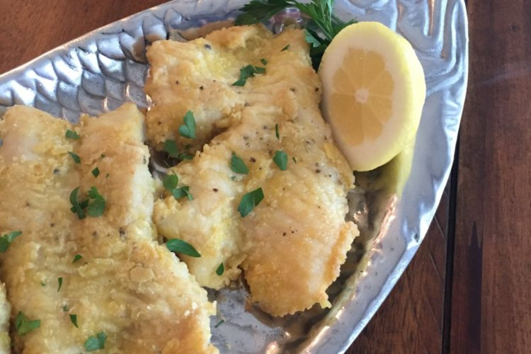 Potato Chip Crusted Grouper