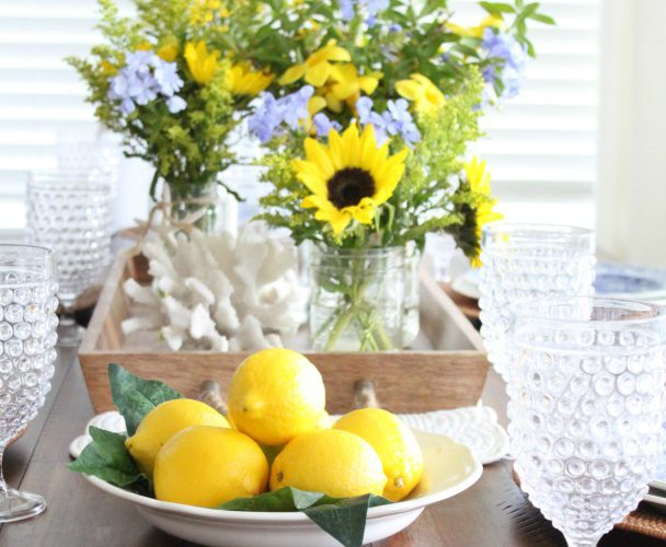 Late Summer Yellow and Blue Table