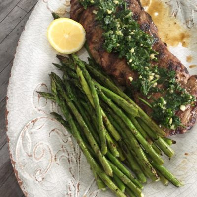 Skirt Steak with Chimmichurri