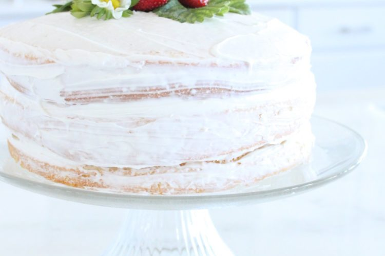 Naked Cake with Fresh Strawberries