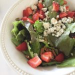Strawberry, Pecan and Blue Cheese Salad with Strawberry Dressing