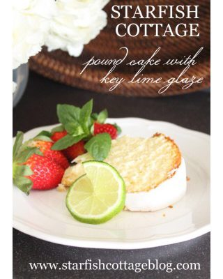 Starfish Cottage Pound Cake with Key Lime Glaze