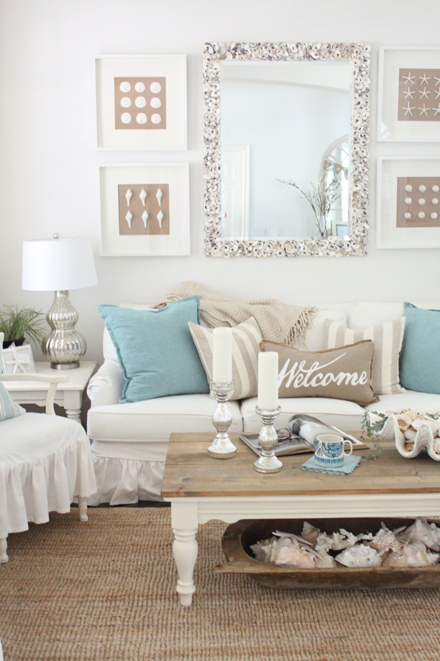 ... And In This Case, I Used My Big Beautiful Robins Egg Blue Pillows With  Soft Khakis And Creams To Add A Soft, Subtle Springtime Touch To The Living  Room.