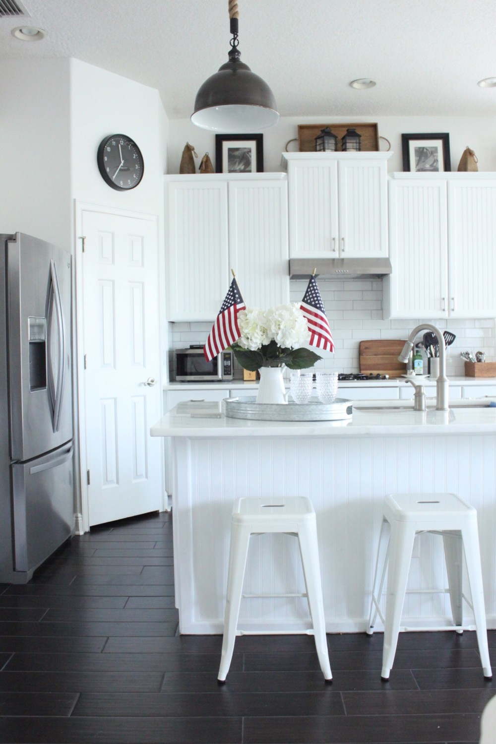 Red White and Blue for the Kitchen - Starfish Cottage