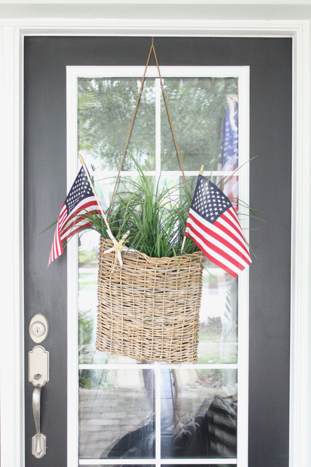 I get asked all the time where to find a hanging door basket like this one and to be honest I purchased it over 10 years ago from JoAnne\u0027s Craft store and ... & Front Door for July - Starfish Cottage