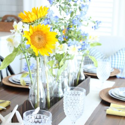 A Blue, White and Yellow Table- June 2017