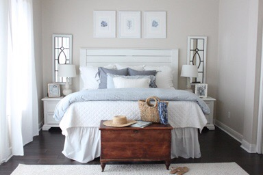 Late Summer Bedroom- Blues and Greys