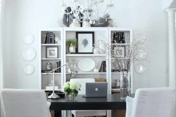 Dining Room to Dedicated Home Office Transformation