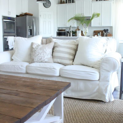 Tips for Living with White Slipcovers