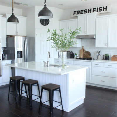 How to Warm Up a White Kitchen